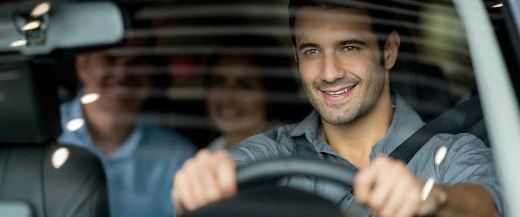 man driving alert